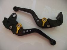 Honda CBR1000RR (04-07), CNC levers short black/gold adjusters, F33/H33